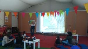 Contar con la pantalla Carles García Domingo Feria del Libro de Logroño 2014 (2)