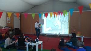 Contar con la pantalla Carles García Domingo Feria del Libro de Logroño 2014